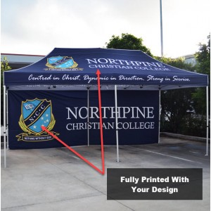3x6 Printed Canopy and Back Wall With Frame
