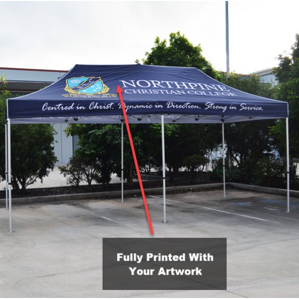 3x6 Printed Marquee Canopy With Frame