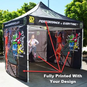 3x3 Printed Canopy Back Wall and Side Full Walls With Frame