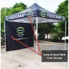 3x3 Printed Canopy and Back Wall With Frame