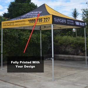 3x3 Printed Marquee Canopy With Frame