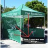 3x3 Printed Canopy,Back Wall and Half Side Walls With Frame