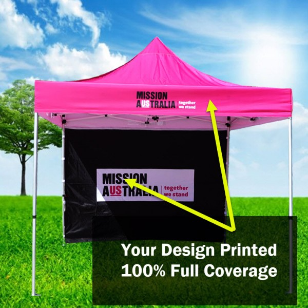 3x3  Supreme Strength Frame with Printed Canopy and Back Wall